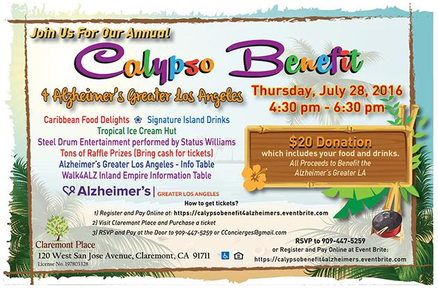 Calypso Benefit 4 Alzheimer's Greater LA @ Claremont Place | Claremont | California | United States