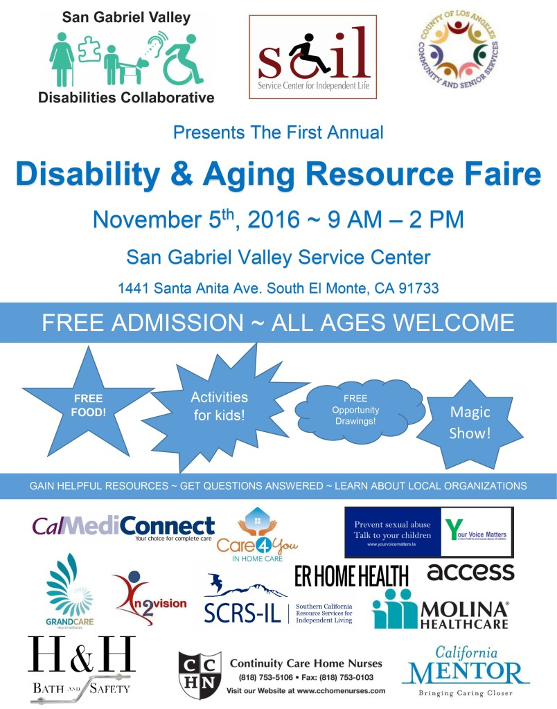Disability & Aging Resource Faire @ San Gabriel Valley Service Center | South El Monte | California | United States