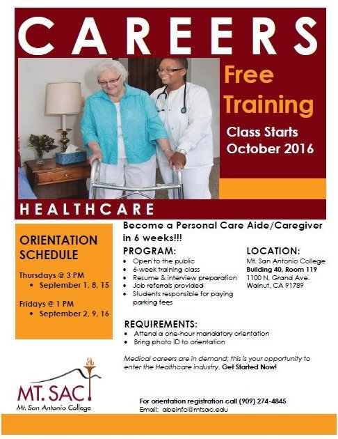 Lilacs & Greensleeves: MT SAC PCA/Caregiver Free Training - Care 4 You